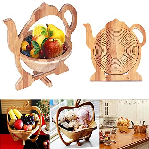 Barrageon Cesto di Frutta Cestino Uovo Portafrutta Pieghevole Ciotola per Frutta in Pane Cucina Casa...