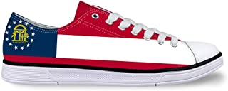Canvas High Top Sneaker Casual Skate Shoe Boys Girls Diamond Delaware Flag