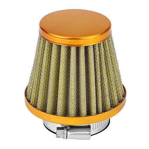 Filtro aria di aspirazione, 38 mm di aspirazione universale Filtro aria ad alto flusso Kit di induzione Sostituzione detergente per moto fuoristrada ATV Quad Dirt Pit Bike(Oro)