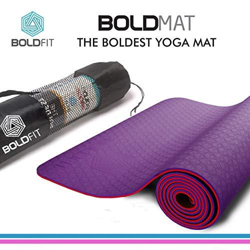 Boldfit BoldMat Pro Grip Otro tapete de Yoga (Rojo)