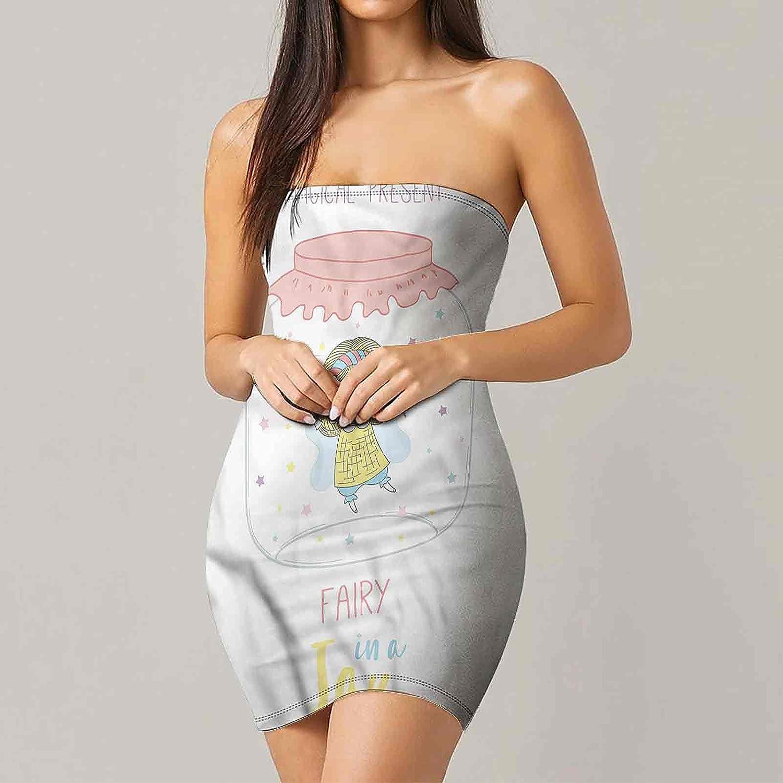Women's Summer Strapless Dresses Fantastic Illustration Star Dresses