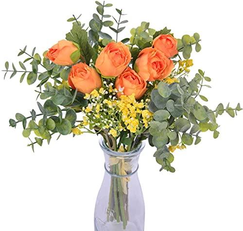 Flores Artificiales Decoracion Jarrones Naranjas flores artificiales decoracion jarrones  Marca huaao
