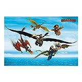 Bilderwelten Papier peint intissé - Dragons - Flight over the sea - Mural Format...