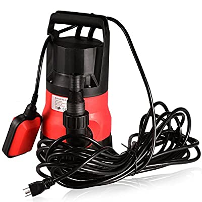 Submersible Water Pump Sump with Float Switch Portable Clean/Dirty
