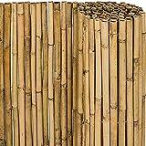 KANULAN Cercas Decorativas Pantalla de bambú Invernadero Ventanas Pérgola Valla de bambú Valla de privacidad de jardín 100% naturalCerca de Jardín