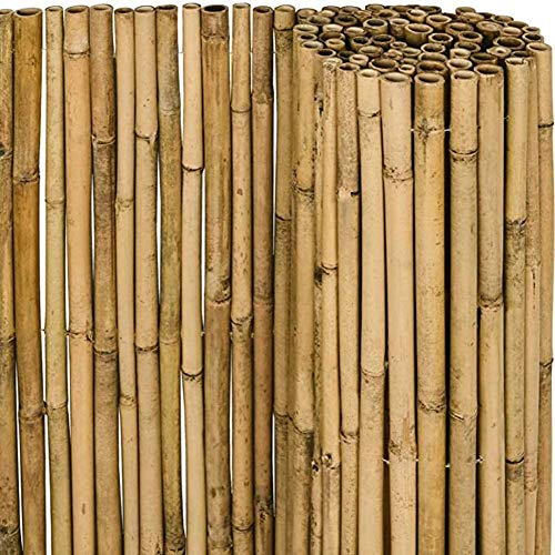 YZJL Cercas Decorativas Pantalla de bambú Invernadero Ventanas Pérgola Valla de bambú Valla de privacidad de jardín 100% naturaldecoracion Jardin