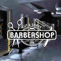 ウォールステッカーデカール 車のステッカーPvc理髪店デカールビニールアートウィンドウ56X36Cm 壁画家の装飾