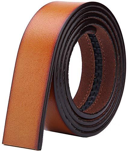 """Nelbons Hombre Cinturón-Cuero Automática Cinturón De sin hebilla Cinturón de trinquete 35 mm 1 3/8"""""""