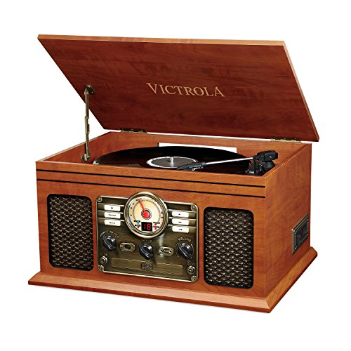 Victrola Classic 6-in-1 Bluetooth Record Player Music Centre - Mahagoni