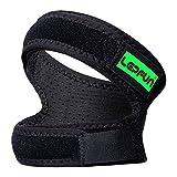 Lepfun P3000 Kniegurt Patella Bandage, Schmerzlinderung für Laufen, Wandern, Fußball, Basketball, Volleyball(1 Stück, Schwarz) (Large)