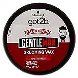 Got2B Gentleman Grooming Wax, Cera per Capelli per un Look Strutturato, Definito, con un Effetto Brillante, 100 ml