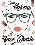 Glasses Makeup Face Charts