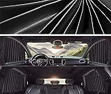 GLITZFAS Sonnenschutz fürs Auto Vorhang Baby Magnetisch Seitenscheibe UV Schutz Hitzeschutz Sichtschutz Funktion für einfaches Auf- und Zuziehen (Schwarz,Vierteiliges Set)