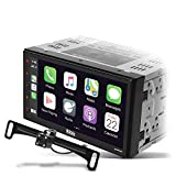 BOSS Audio Systems Elite BV850ACP Car Multimedia Player with Apple CarPlay-Android Auto - Double Din, 6.75 Inch LCD Capacitive Touchscreen, Bluetooth, USB, AM/FM, No CD/DVD, Rear Camera Included