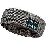 Rpanle Auriculares para Dormir con Diadema Bluetooth, Bluetooth 5.0 Deportes Diadema, con Ultrafinos HD Estéreo Altavoces Deportes, Dormir de Lado y Viajes Aéreos (Gris Oscuro)