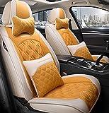 Car Seat cover set, cómodo piezas de automóvil, llenado de alforfón, transpirable y resistente al desgaste, conveniente para todas las estaciones,G