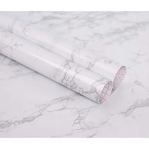 Gray Marble Contact Paper Granite Wallpaper Vinyl Self Adhesive 120cm Wide Width