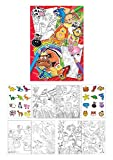 KINPARTY ® - 12 Libros con dibujos para colorear y Pegatinas – Para regalos, cumpleaños,...