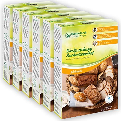 Glutenfreie Backmischung Buchweizenbrot   6*400g   Hanneforth