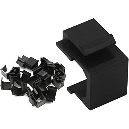 VCE 20-Pack Blank Keystone Jack Inserts for Keystone Wall Plate and Patch Panel - Black