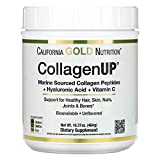 California Gold Nutrition, Collagen UP 5000, Marine-Sourced Collagen Peptides + Hyaluronic Acid + Vitamin C, 16.36 oz , Milk-Free, Egg-Free, Gluten-Free, Peanut Free, Treenut Free, Shellfish Free, CGN