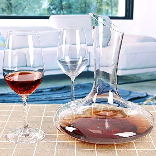 DZSF 1.8L klassieke wijn decanter, handgemaakte kristal rode wijn giet levendige champagne decanter rode wijn karaf 60 Ounce capaciteit