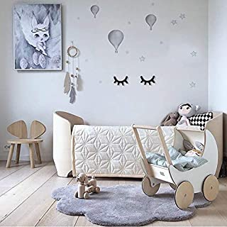 Dulcii Cloud Shape Kids Rugs, Soft Baby Floor Play Mat Area Rugs for Boys and Girls Bedroom and Playroom Kids Home Decor Carpet, Large Nursery Mat 40x25.6 inch, Grey