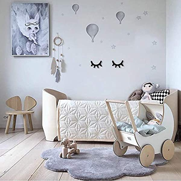 Dulcii Cloud Shape Kids Rugs Soft Baby Floor Play Mat Area Rugs For Boys And Girls Bedroom And Playroom Kids Home Decor Carpet Large Nursery Mat 40x25 6 Inch Grey