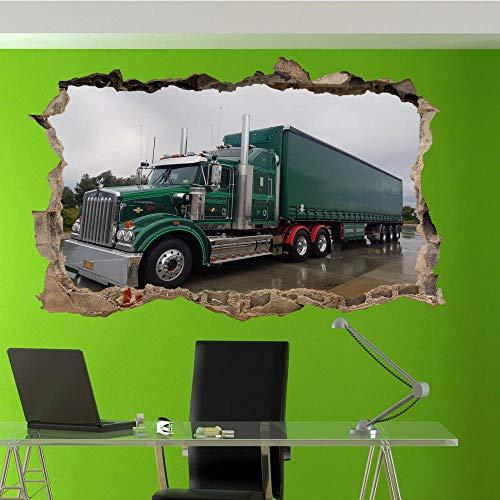 Pegatinas de pared PEGATINAS DE PARED DE CAMIONES 3D ART MURAL HABITACIÓN OFICINA TIENDA DECORACIÓN VW5 80x120cm