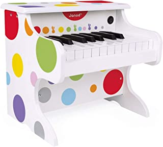 Janod My First Confetti Electronic Piano, One Color