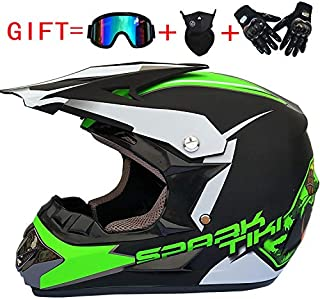 <h2>RONSHIN Fashion Outdoor Offroad Casco Motorrad & Moto Dirt Bike Motocross Racing Helm Set mit Maske XL Matte Black and Green</h2>