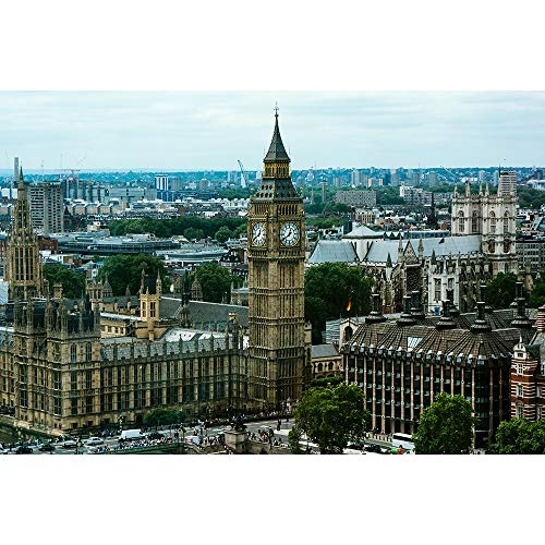 Wooden Jigsaw Puzzles London Landmark City 500/1000/1500/2000/3000/4000/5000/6000 Pieces Adult Decompression Gift Creative Games Toys Home Decor 0518 (Size : 6000 Pieces)