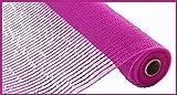 Deko-Netzstoff, breit, metallisch, 26,7 x 4,5 m, Hot Pink