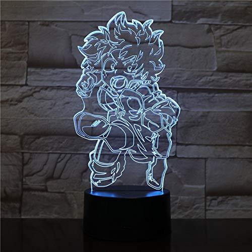 3D Anime Hero Character Pattern LED Night Light 7 Couleur Chambre Lampe Décoration de Maison Cadeau de Noël pour Enfants