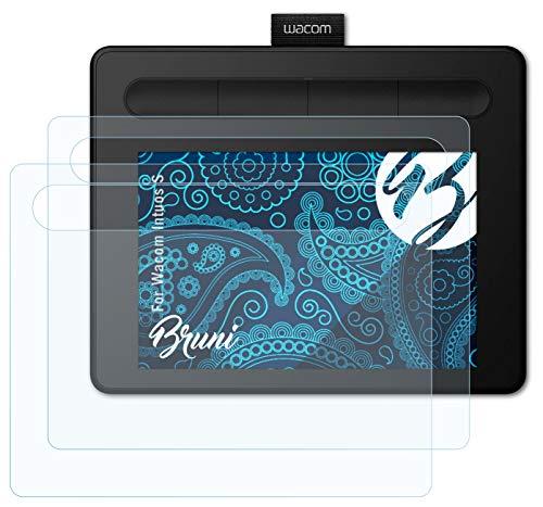 Bruni Schutzfolie kompatibel mit Wacom Intuos S Folie, glasklare Displayschutzfolie (2X)