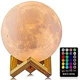 Moon Lamp, LOGROTATE 16 Colors LED Night...