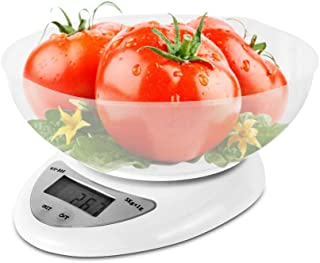 Digital Kitchen Scale, HENGTONG Kitchen Scales Digital Weight Grams and Ounces with Bowl, Cooking Scales 11 lbs /5 kg, High Accuracy Food Kitchen Scale LCD Display, Auto Off, Battery Included