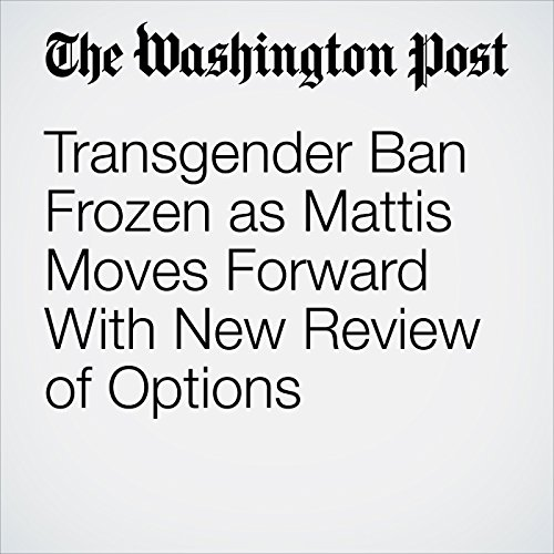 Transgender Ban Frozen as Mattis Moves Forward With New Review of Options copertina
