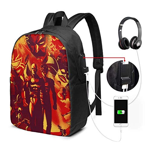 Primitive Rock Painting Laptop Backpack 17 Inch Business Travel Backpacks for Men Women Adjustable Shoulder Strap with USB Charging Port Black Men's and Women's for School