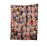 Donald Trump Blanket, Fleece Throw Blanket, All Over Print, Trump Supporter Blanket, Make America Great Again, Trump Loyal Supporter Gift 1 Custom Fleece Sherpa Blanket