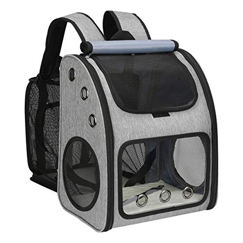 COVONO Expandable Pet Carrier Backpack for Cats, Dogs and Small Animals, Portable Pet Travel Carrier, Super Ventilated Design, Airline Approved, Ideal for Traveling/Hiking /Camping