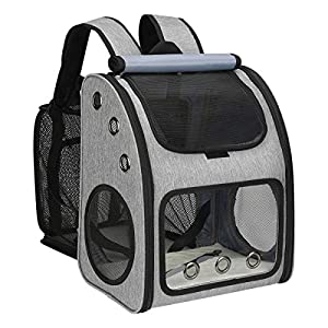 COVONO Expandable Pet Carrier Backpack for Cats, Dogs and Small Animals, Portable Pet Travel Carrier, Super Ventilated Design, Airline Approved, Ideal for Traveling/Hiking/Camping