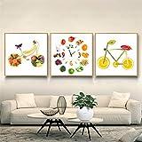 LYFrend Pintura de Alimentos Divertido Vegetal Fruta Bicicleta...