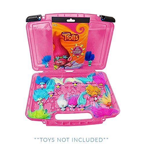 Life Made Better Trolls Sticker Book + Case, Toy Storage Carrying Box. Figures Playset Organizer. Accessories Kids LMB