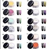 Uñas brillo en polvo brillo espejo mágico efecto cromado arte de uñas en polvo 2g /12 colores para elegir