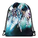 Gundam 機動戦士ガンダム ナップサック ジムサック スポーツバック ライトバック バッグ 通勤 通学 巾着袋 防水仕様 アウトドア 軽量 男女兼用 グッズ