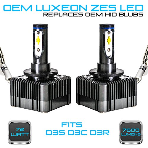 Stark 72W 7600LM Headlight LED Canbus Conversion Kit 6000K White Replace OEM HID Xenon Bulbs - D3S D3R D3C