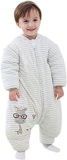 KINDOYO Baby Wearable Sleeping Bag - Loose Warm Easy to Move Sleepwear with Feet Unisex Child Breathable Soft Sleep Sack