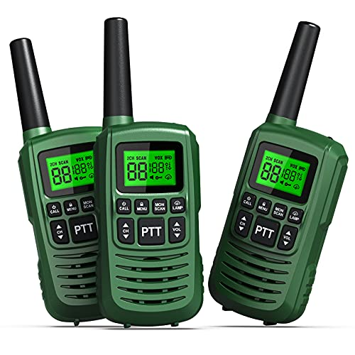 GOCOM FRS Walkie Talkies for Teen & Adults IPX4 Waterproof Long Range Two Way Radios 22 Channel VOX Hands-Free LED Flashlight Tow Way Walkie Talkie 3Pack (G2-3Pack). Buy it now for 39.99