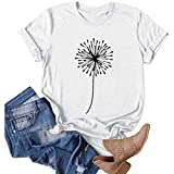 AODONG Tops for Women Plus Short Sleeve Tunics for Women, Womens Casual Summer Short Sleeve Cross Neck Blouse Casual Tops T-Shirt